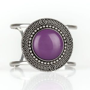 3 for $15 Purple and Silver Cuff Bracelet